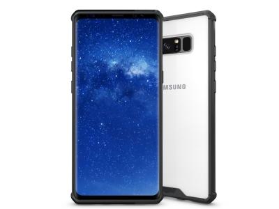 Пластмасов гръб със силиконова лайсна за Samsung Galaxy Note 8 N950, Черен