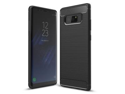 Силиконов Калъф Carbon за Samsung Galaxy Note 8 , Черен