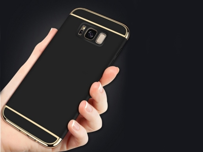 Калъф Гръб PVC 3 in 1 за Samsung Galaxy Note 8 2017, Черен