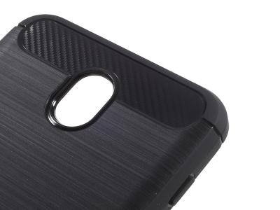Силиконов Калъф Carbon Fibre Brushed за Samsung Galaxy J7 2017 J730, Черен