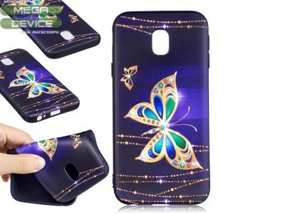 Силиконов Гръб за Samsung Galaxy J3 (2017) J330 - Gold Butterfly