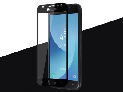 Стъклен протектор  Full за Samsung Galaxy J3 (2017) J330, Черен