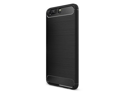 Силиконов Калъф Carbon за Huawei P10 Plus, Черен