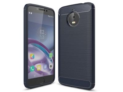 Силиконов Калъф Carbon за Motorola Moto E4 Plus , Син