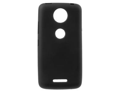 Силиконов калъф Matte за Moto C Plus, Черен