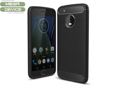 Силиконов Калъф Carbon за Moto G5 Plus, Черен