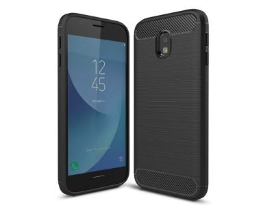 Силиконов Калъф Carbon за  Samsung Galaxy J3 (2017) J330, Черен