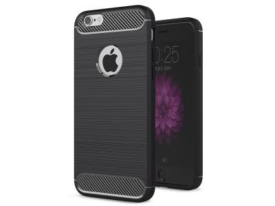 Силиконов Калъф Carbon за iPhone 6 / 6S, Черен