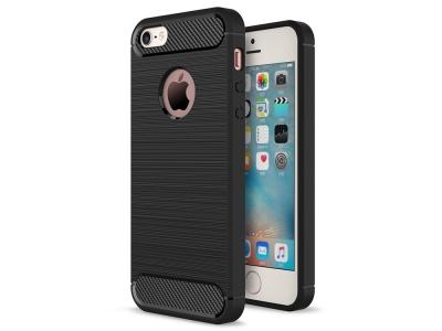 Силиконов Калъф Carbon за iPhone 5 / 5S / SE , Черен