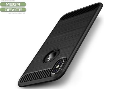 Силиконов Калъф Carbon IPAKY за iPhone X 5.8inch, Черен