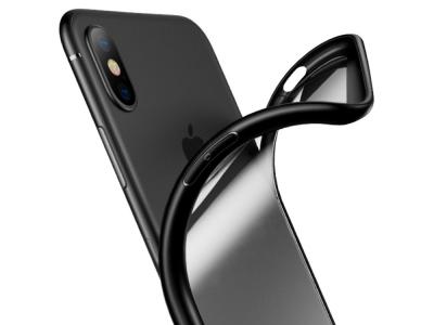 Калъф гръб USAMS за iPhone X 5.8 inch (Clear PC + Soft TPU Edges), Черен