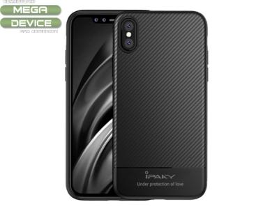 Калъф гръб IPAKY Carbon за iPhone X 10 5.8 inch, Черен