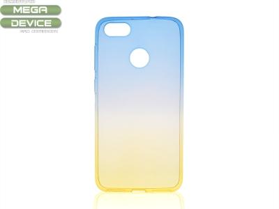 Силиконов гръб OMBRE за Huawei P9 Lite MINI / Enjoy 7 , Син/Златист