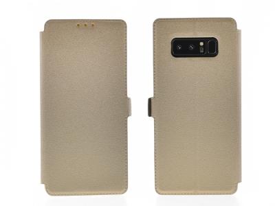 Тефтер странично отваряне за BOOK POCKET Samsung Galaxy Note 8 N950, Златист