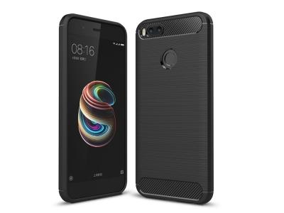 Силиконов Калъф Carbon Fibre Brushed за Xiaomi Mi A1 / 5X , Черен