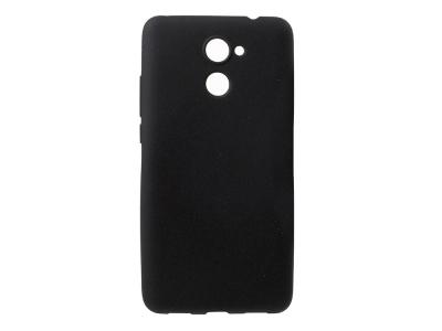 Силиконов матиран гръб за Huawei Y7 Prime / Enjoy 7 Plus, Черен