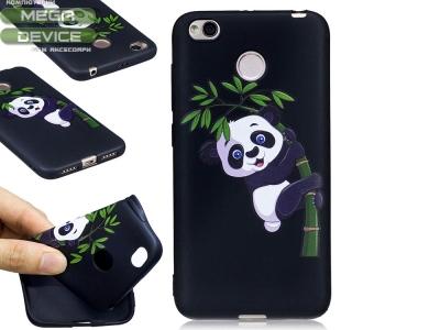 Силиконов гръб за  Xiaomi Redmi 4X , Panda and Bamboo