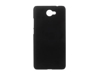Пластмасов матиран гръб за Huawei Y7 (2017), Черен