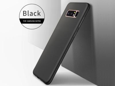 Силиконов матиран гръб  X-LEVEL за Samsung Galaxy Note 8 N950, Черен