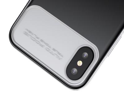 Твърд гръб със силиконова лайсна BASEUS за  iPhone X / 10 5.8 inch , Черен
