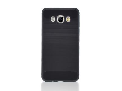 Силиконов Калъф Carbon Fibre Brushed за Samsung Galaxy J5 (2016)  J510F, Черен
