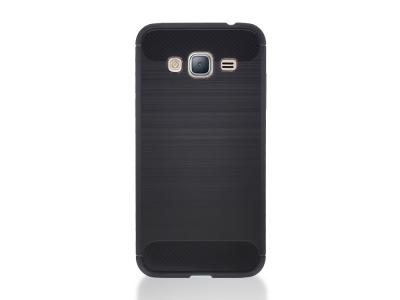 Силиконов Калъф Carbon Fibre Brushed за Samsung Galaxy J3 (2016) J320, Черен