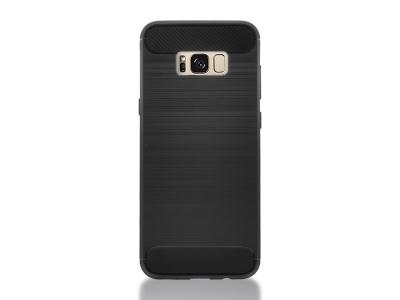 Силиконов Калъф Carbon Fibre Brushed за Samsung Galaxy S8 Plus 2017 G955, Черен
