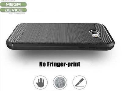 Силиконов Калъф Carbon Fibre Brushed -  Samsung Galaxy A5 2017 A520, Черен