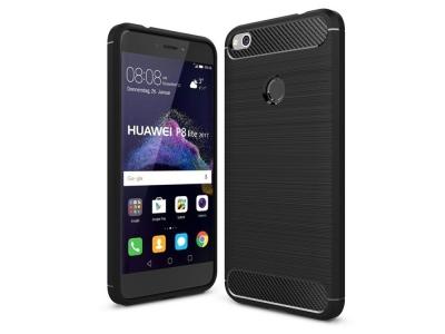 Силиконов Калъф Carbon Fibre Brushed за Huawei P8 Lite (2017) / P9 Lite (2017), Чрене