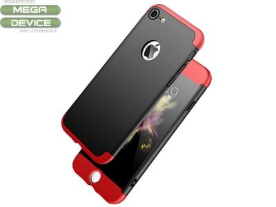 Ултра Тънък Пластмасов Протектор FULL iPhone 7  / IPhone 8, Червен/Черен