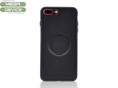 Силиконов Гръб с пръстен iPhone 7 Plus / 8 Plus, Черен