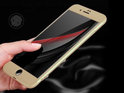 Ултра Тънък Пластмасов Протектор FULL iPhone 7 Plus / 8 Plus, Златист
