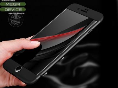 Ултра Тънък Пластмасов Протектор FULL iPhone 7 Plus / 8 Plus, Черен