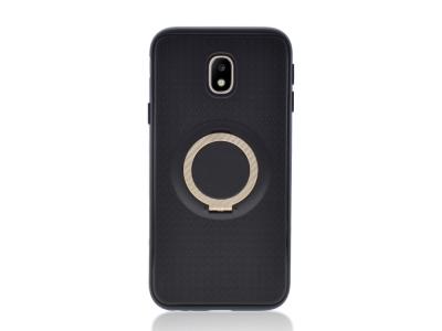 Силиконов Гръб с пръстен Samsung Galaxy J3 (2017) J330 ,Черен/Златист