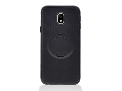 Силиконов Гръб с пръстен Samsung Galaxy J3 (2017) J330 , Черен