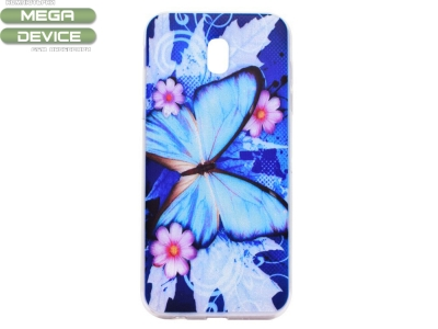 Силиконов Калъф за Samsung Galaxy J3 (2017) J330 - Blue Butterfly