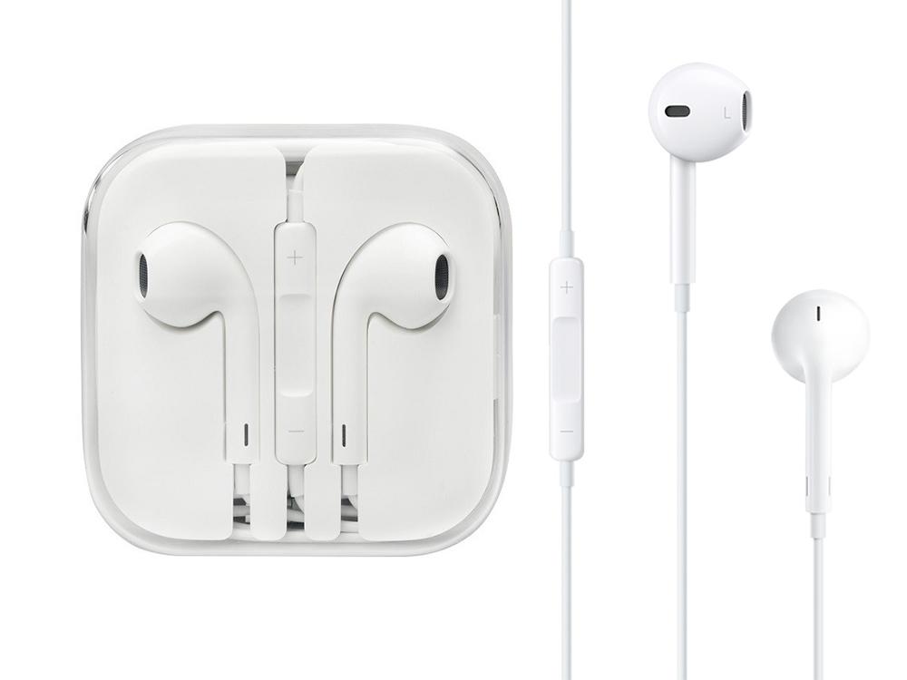Оригинални слушалки Apple за iPhone 5/5S/5SE/6 Box, Бял