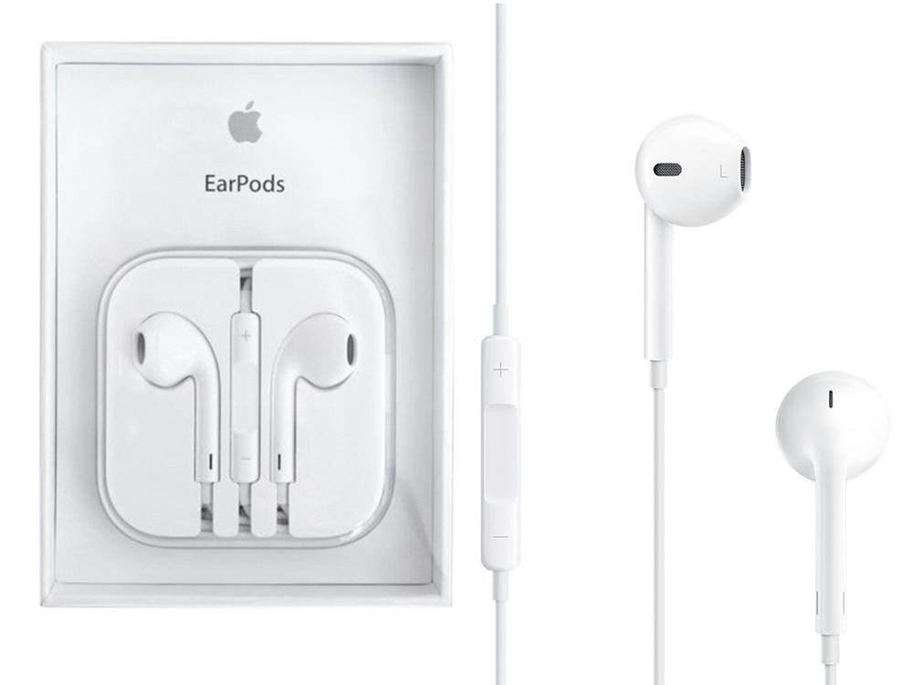 Оригинални слушалки Apple за iPhone 5/5S/5SE/6, Бял