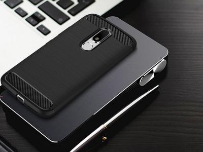 Силиконов Калъф Carbon Fibre Brushed - Motorola Moto M XT1663 - Black