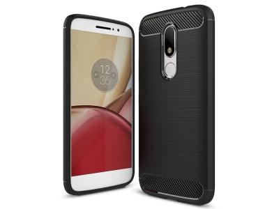 Силиконов гръб Carbon за Motorola Moto M XT1663, Черен