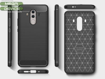 Силиконов Калъф Carbon Fibre Brushed - Mate 10 Pro - Black
