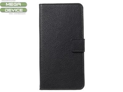 Калъф Тефтер Litchi за Huawei Mate 10 Lite / nova 2i / Maimang 6, Черен