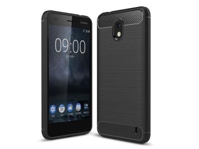 Силиконов Калъф Carbon за  Nokia 2, Черен