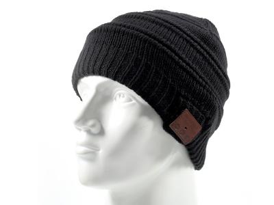 Зимна плетена шапка с вградена безжична Bluetooth слушалка и микрофон winter
