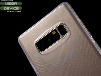 360 градуса силиконов калъф за  Samsung Galaxy Note 8 2017 N950 - Transparent