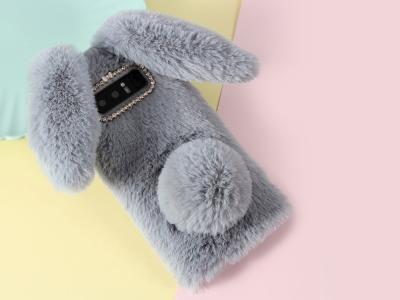 Силиконов гръб  Пухкаво зайче за Samsung Galaxy Note 8 N950, Сив