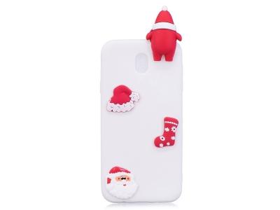 Силиконов Калъф 3D Samsung Galaxy J7 (2017) J730 - Santa / White
