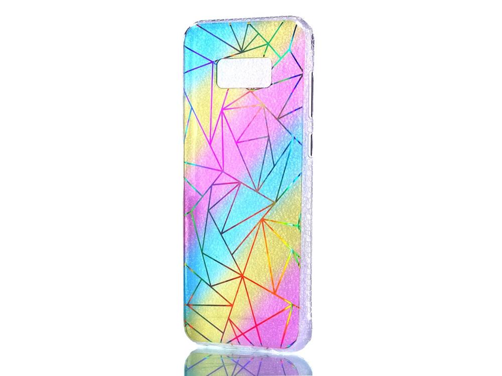 Цветен Силиконов калъф за Samsung Galaxy S8 Plus G955 - Triangulars
