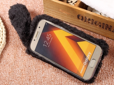 Силиконов гръб  Пухкаво зайче за Samsung Galaxy A5 2017, Черен