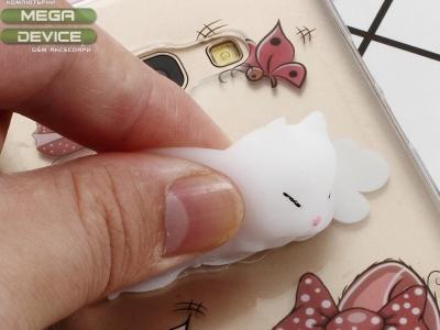 Силиконов гръб 3D Squishy за Samsung Galaxy A5 2017 SM-A520F - Butterfly and Cat Pattern